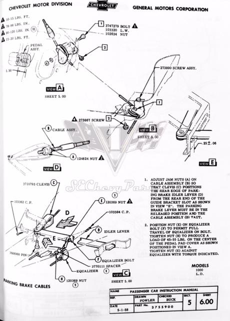 19581959    Chevy    Impala OEM Emergency Parking Brake Idle