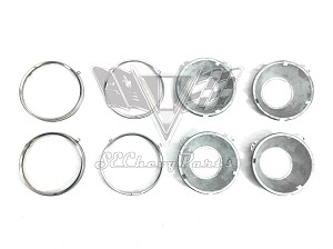 1958-1966 Chevy 5 3/4 in. Headlight Bucket & Rings, Set 4