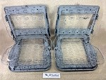 1962-1964 Chevy Impala Super Sport Bucket Seats and Tracks PAIR RESTORED