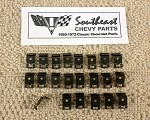1961-1964 Chevy Sedan Rear Glass Reveal Molding Clip Set (22)