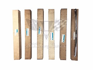 1955-1957 Chevy Nomad NOS Tailgate Trim Bar Molding Set