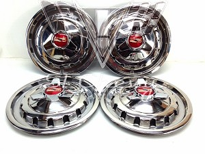 1957 Chevy BelAir Hubcaps, Set - USED