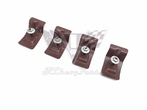 1961-1964 Chevy Impala Convertible Upper Windshield Header Molding Clips, Set