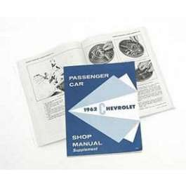 1962 Chevy Passenger Car Shop Manual Supplement