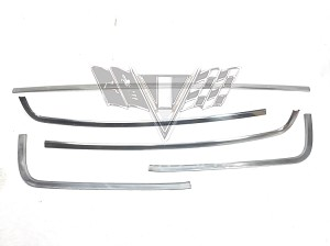 1965 Chevy 2/4-Door Sedan Backglass Trim Molding Set