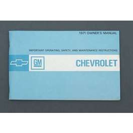 1971 Chevy Full Size Owner's Manual